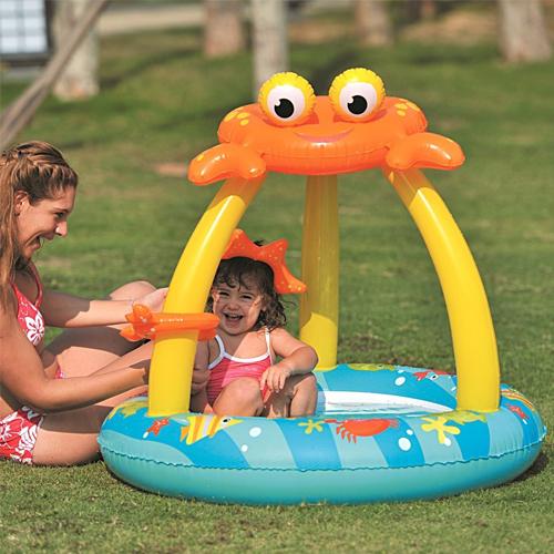 Piscina bambini forma granchio 100x h95cm gonfiabile mare for Planimetrie 1500 piedi quadrati ranch